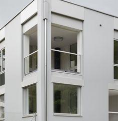 Five Fold: Apartment block, Basel, Switzerland, by Lütjens Padmanabhan Architekten Basel, Contemporary Architecture, Townhouse, Minimalism, Windows, Outdoor Decor, Home Decor, Facades, Balcony