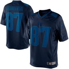 Nike Rob Gronkowski New England Patriots Drenched Limited Jersey - Navy Blue