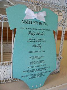 homemade baby shower invitations tiffany onesie baby shower invitations by