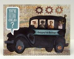 Man's Birthday Card...Tim Holtz die cut by Sylviascorner on Etsy