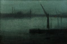 Nocturne: Blue and Silver—Battersea Reach James McNeill Whistler (American, 1834-1903) United States, 1870-1875 Oil on canvas H x W: 49.9 x 72.3 cm Gift of Charles Lang Freer, F1902.97a-b