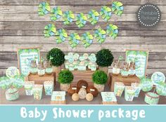 Save OVER 50% with the Baby Shower Mega Set!  This adorable printable Safari Jungle Baby boy shower MEGA SET has Everything you need to throw a perfect baby shower that will be sure to impress your guests.  ►All files will be emailed to your ETSY email address within 24-48 hours. No items will be shipped in the mail.  ►If chosen personalization During checkout in the message box notes to seller Please include: 1. Honorees name  Package Includes  • Its a Boy Banner ( Each flag measure 5 x 7)…