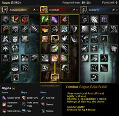 Combat Rogue Raid Build for patch 4.3 #warcraft -- http://gotwarcraft.com/combat-rogue-builds/