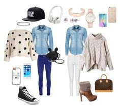 Mom and daughter by petra-dickova on Polyvore featuring Vero Moda, M Missoni, French Connection, Gucci, Converse, Louis Vuitton, CLUSE, Honora, Leith and Casetify