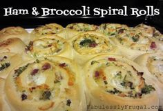 Ham & Broccoli Spiral Rolls from Fabulessly Frugal