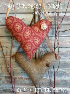 Instant Download Primitive My Favorite Hearts by libertycreek