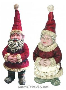 Mr. and Mrs. Clause Garden Gnome.