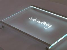 Slimline Edge Lit Glass Signage