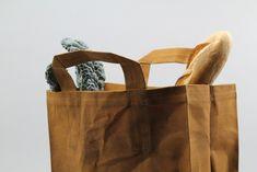 Italic waxed canvas market bag