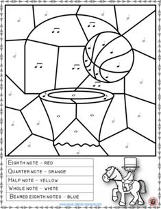Music lessons | Music theory | Music Coloring Pages: 25 SPORT Music Coloring Sheets: Notes, Rests and Dynamics #musiceducatoin #musiced