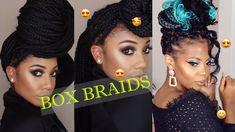 Cute & Fashionable Box Braid Hairstyles From Instagram. Enjoy! Braids For Boys, Jumbo Box Braids, Box Braids Hairstyles, African American Hairstyles, Hair Videos, Natural Hair Styles, Crochet Earrings, Cute, Beautiful