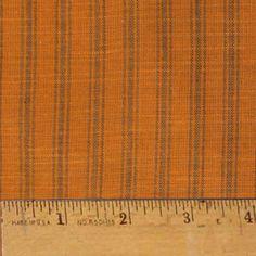 Pumpkin Spice Stripe Homespun Cotton Fabric, for candy corns (also for carrots)