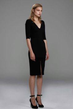 CHRISTOPHER ESBER  Sleeved V-Neck Dress - Black The PERFECT black dress!