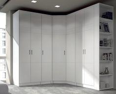 closet armario a medida rinconero blanco, detalle kubik en las puertas www.moblestatat.com horta guinardó barcelona