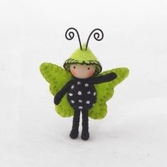 felt art: insects/fairies