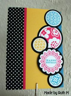Circles Happy Birthday Card by FubsyRuth - Cards and Paper Crafts at Splitcoaststampers