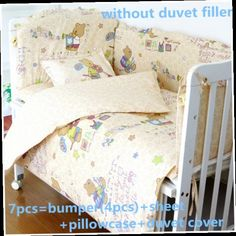 42.80$  Watch now - http://alihu9.worldwells.pw/go.php?t=32525924549 - Discount! 6/7pcs Baby crib bedding set bumpers for cot bed Crib Bumper 100% cotton cot bedding set ,120*60/120*70cm 42.80$