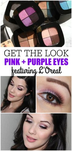 An easy tutorial featuring the L'Oreal Colour Riche Pocket Palette in Avenue Des Roses