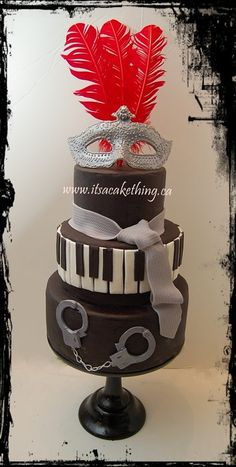 50 Shades of Grey Cake   Simple and clean design but if you've read the books you will get it!   Enjoy all you #christiangrey fans