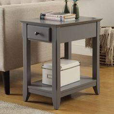 Acme Bertie Side Table, Multiple Colors, Gray