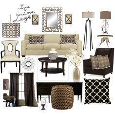 Transitional Living Room by kimh, created by kimmarie40 on Polyvore