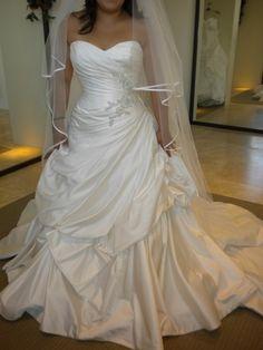 Wedding dress ball gown long train sweet heart top white inspiration ceremony dress