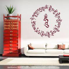 Wandtattoo Medizin Buddha Mantra für Heilung Liebe und Weisheit ...die Rezitation des Buddha Mantras wirkt heilend bei allen Krankheiten #lichterleben #medizinbuddha