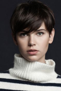 Short smooth style, with soft fringe #fierce
