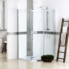 Hydrolux 1200mm Sliding Door Shower Enclosure 8mm no Tray & Waste