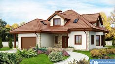 Although most homeowners will spend more time inside of their home than outside admiring the exterior, there is still something to be said for curb appeal. Bungalow Haus Design, Modern Bungalow House, House Paint Exterior, Dream House Exterior, Home Building Design, Building A House, Style At Home, Online Architecture, Amazing Architecture