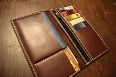 Dark Brown wallet handmade genuine leather wallet by MenEvolution