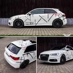 DEATHGAME Design Audi A3 #wrapped by @schwabenfolia.de #designed by @mtchbxdesigns #photo by @pmgraphics