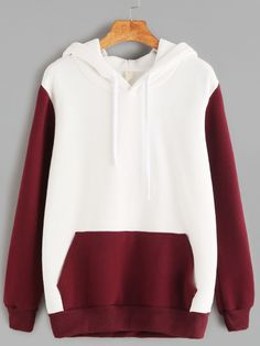 SheIn offers Color Block Hooded Pocket Sweatshirt & more to fit your fashionable needs.