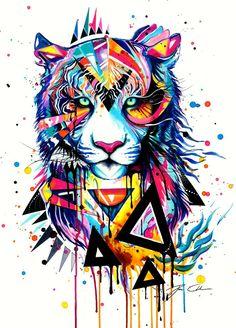 Akvarely, Akvarely, Tetování Tigra, Kresby Vodovými Barvami, Závislost
