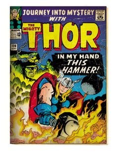 vintage mystery novel book covers | ... Mighty Thor Comic Book Cover No.120, Journey into Mystery (aged) Print