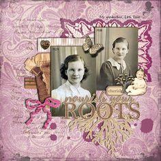 scrapbook layouts for grandma | My Grandmother | More Cute Scrapbook Layouts | Pinterest