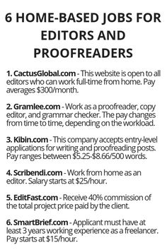 6 Home-Based Jobs For Editors And Proofreaders – Wisdom Lives Here Earning money happens to be connected with traditional ways … Legit Work From Home, Work From Home Jobs, Earn Money From Home, Way To Make Money, Home Based Jobs, Proofreader, Work From Home Opportunities, Thing 1, Money Matters