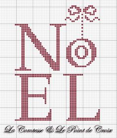 Noel cross stitch