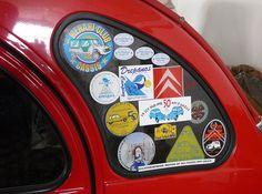Cerca 2011_29 by doubchev, via Flickr, Citroen Logos, Citrogarage.pt • a Citroen 2CV with club stickers