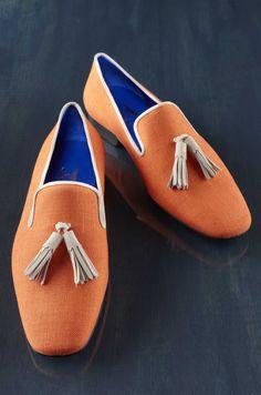 Hadleigh's Bespoke Lifestyle - Tangerine Linen with Cream Tassel