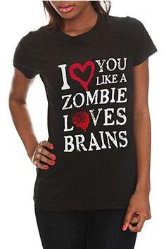 Like A Zombie Girls T-Shirt