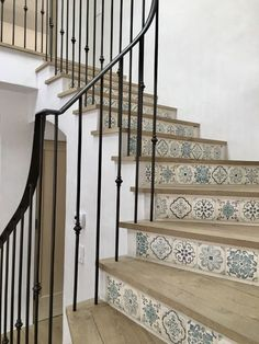 Picture result for stair detail with tiles Malibu Mediterranean Modern Farmhouse G . # picture result # tiles Picture result for stair detail with tiles Malibu Mediterranean Modern Farmhouse . Farmhouse Stairs, Farmhouse Renovation, Modern Farmhouse, Farmhouse Style, Garage Renovation, French Farmhouse, Farmhouse Ideas, Farmhouse Decor, Tile Stairs