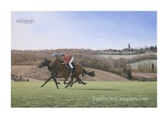 This limited edition print captures the feeling of being stood on the gallops on an early spring morning, watching racehorses in training. You can almost hear the thundering of hooves and the snorting of the horses as they gallop by.