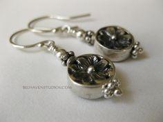 Petite Balinese oxidized sterling silver by BelhavenStudios