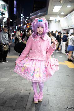 Moco in Sweet Lolita Fashion in Harajuku