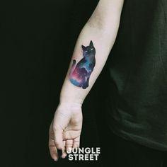 Pretty Flower Tattoos, Beautiful Tattoos, Cat Tattoos, Tattoo Cat, Tattoo Designs, Tattoo Ideas, Tattoo Inspiration, Watercolor Tattoo, Tatting