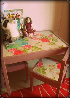 ikea kid table hack, playroom