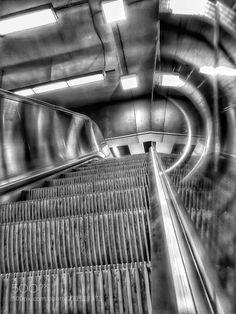 Escalators by Kouet Kouet Railroad Tracks, Shots, Street, Art, Proposals, Art Background, Kunst, Performing Arts, Walkway