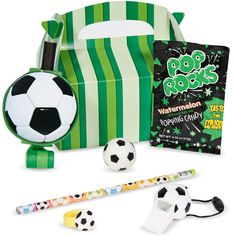 Soccer Filled Party Favor Box, Size: One size, Multicolor Soccer Party Favors, Soccer Birthday Parties, Girl Birthday, Birthday Ideas, Unicorn Party Supplies, Kids Party Supplies, Favor Boxes, Things That Bounce, Walmart