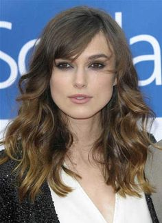 Keira Knightley's Long Layered Wavy Hairstyle - Celebrity hairstyles